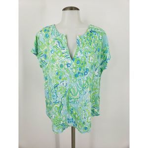 Lilly Pulitzer Linen Duval Top Any Fins Possible